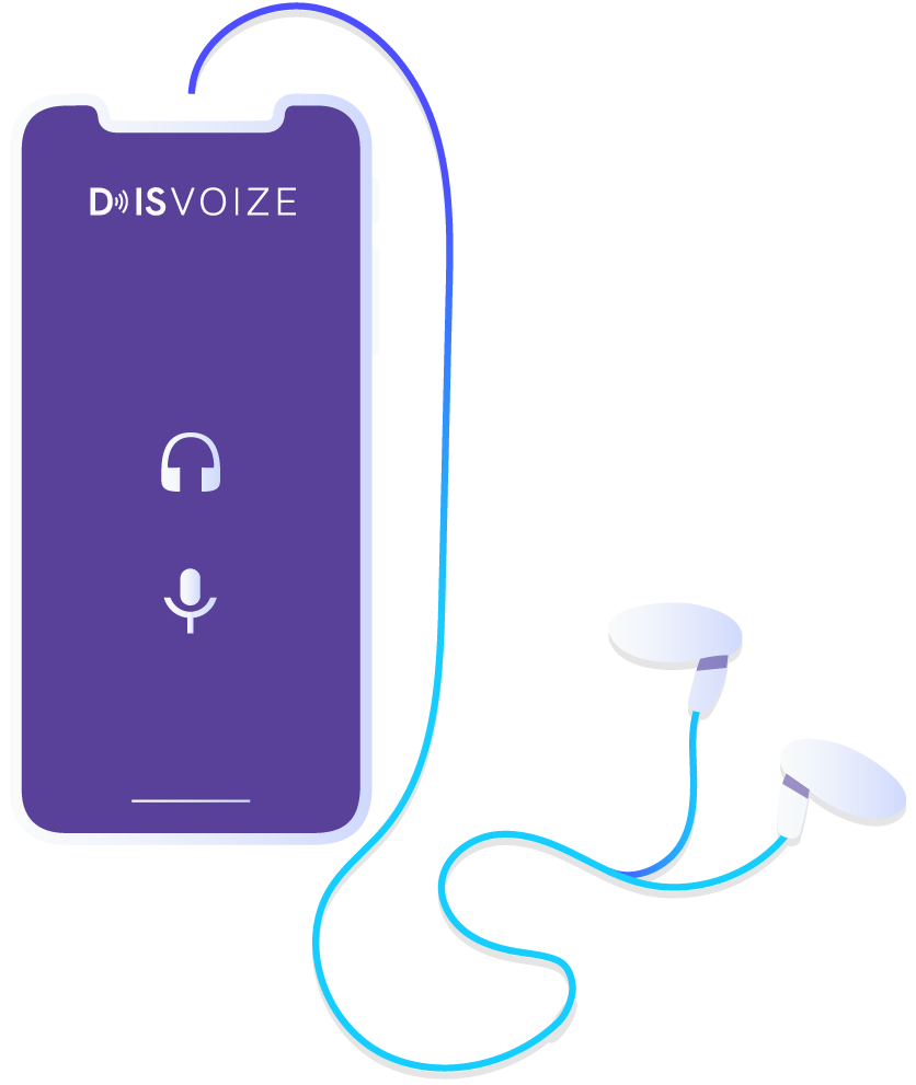 Disvoize tour guide, whispers system app